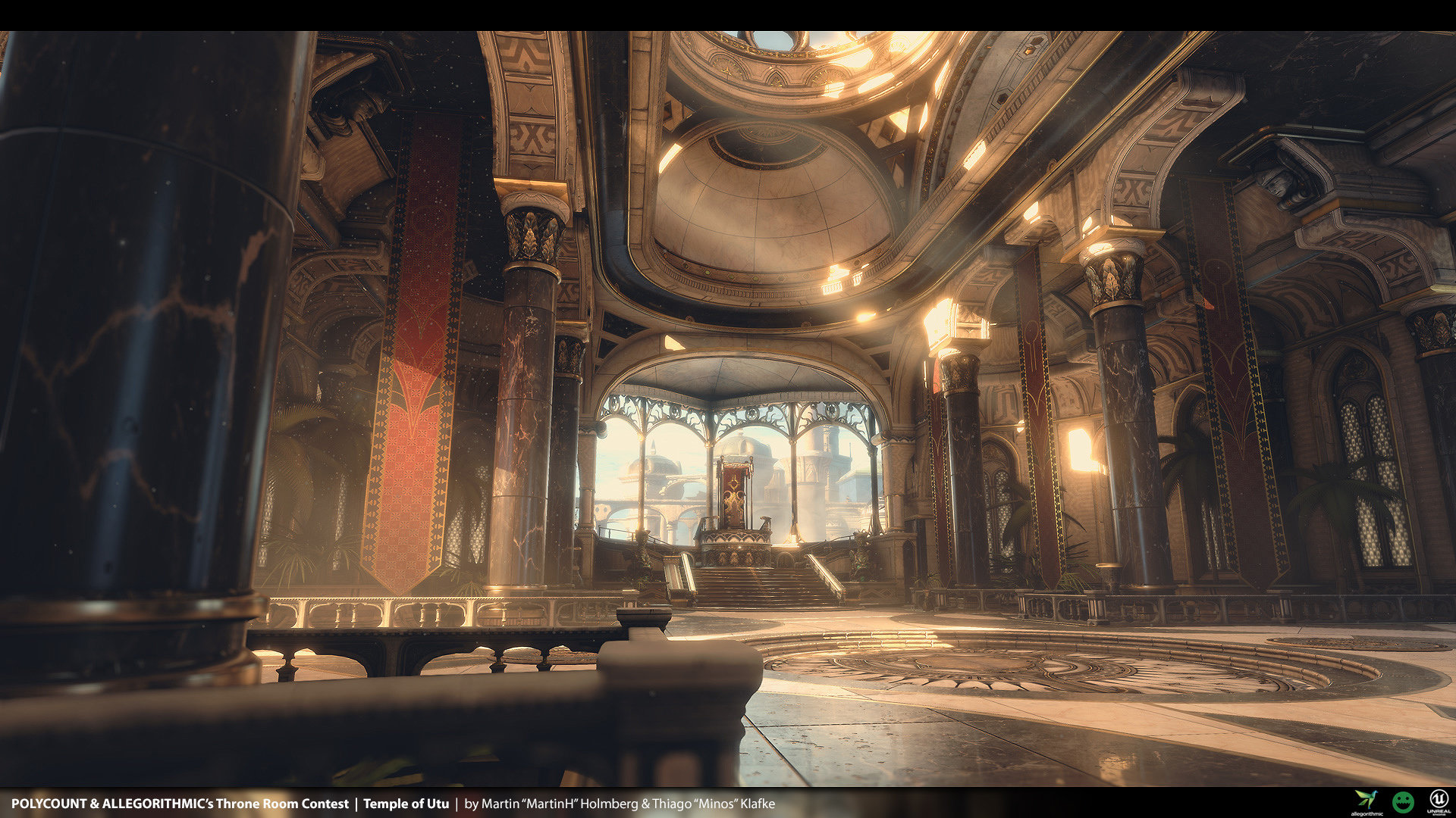 Artstation Temple Of Utu Polycount Throne Room Contest