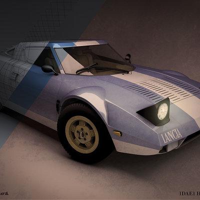 Lancia Stratos Road High Poly