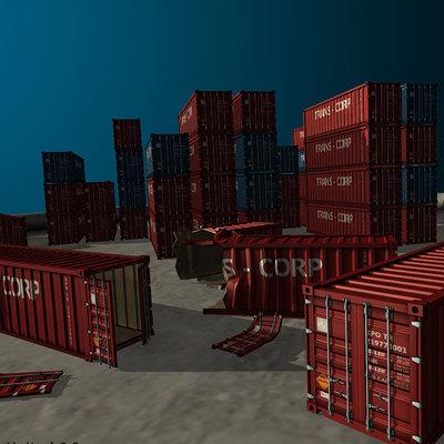 Marius popa containers artstation
