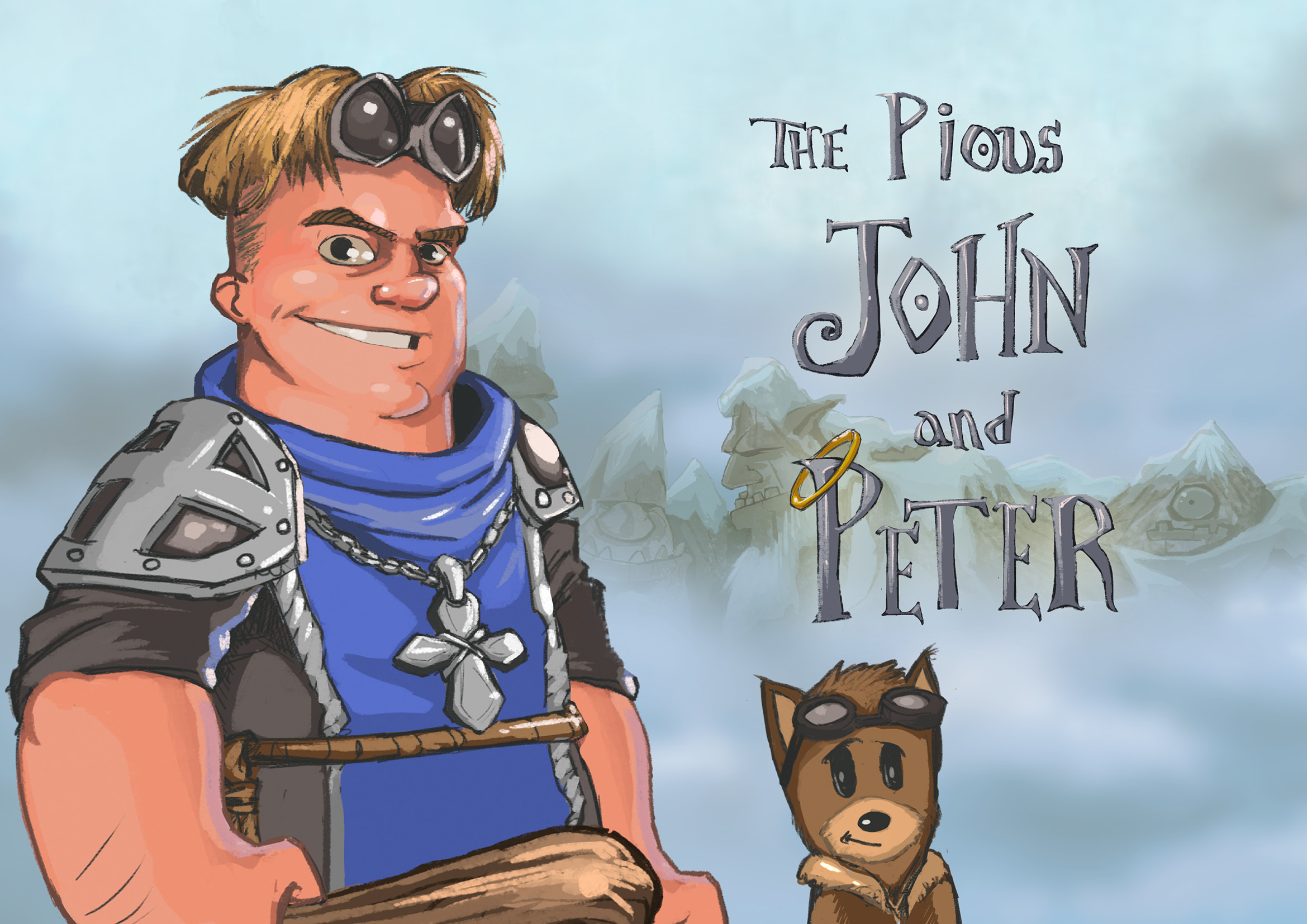 Brother John and his Hound of Heaven Peter are one of the three playable duos.