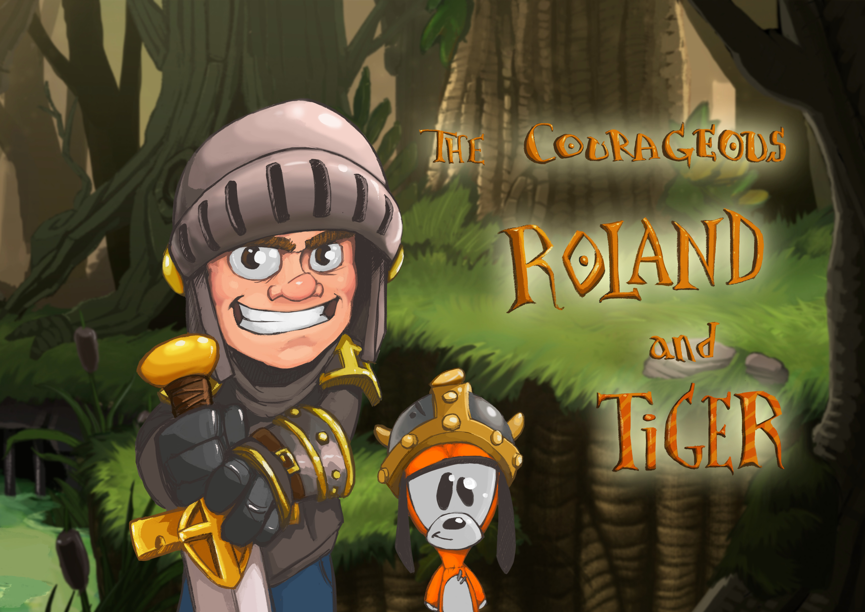Roland and his magical dog Tiger are the main characters of the game and one of the three playable duos.