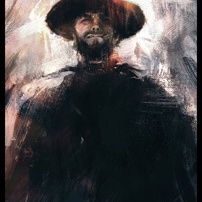 Sebastien ecosse clint eastwood man with no name leone spaghetti western painting sebastien ecosse sketch 2