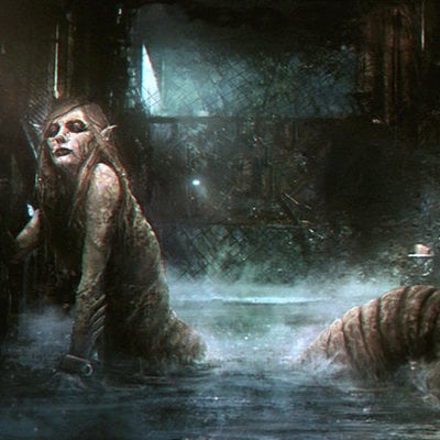 Sebastien ecosse artstation the shrimpmaid sebastien ecosse illustration creature concept