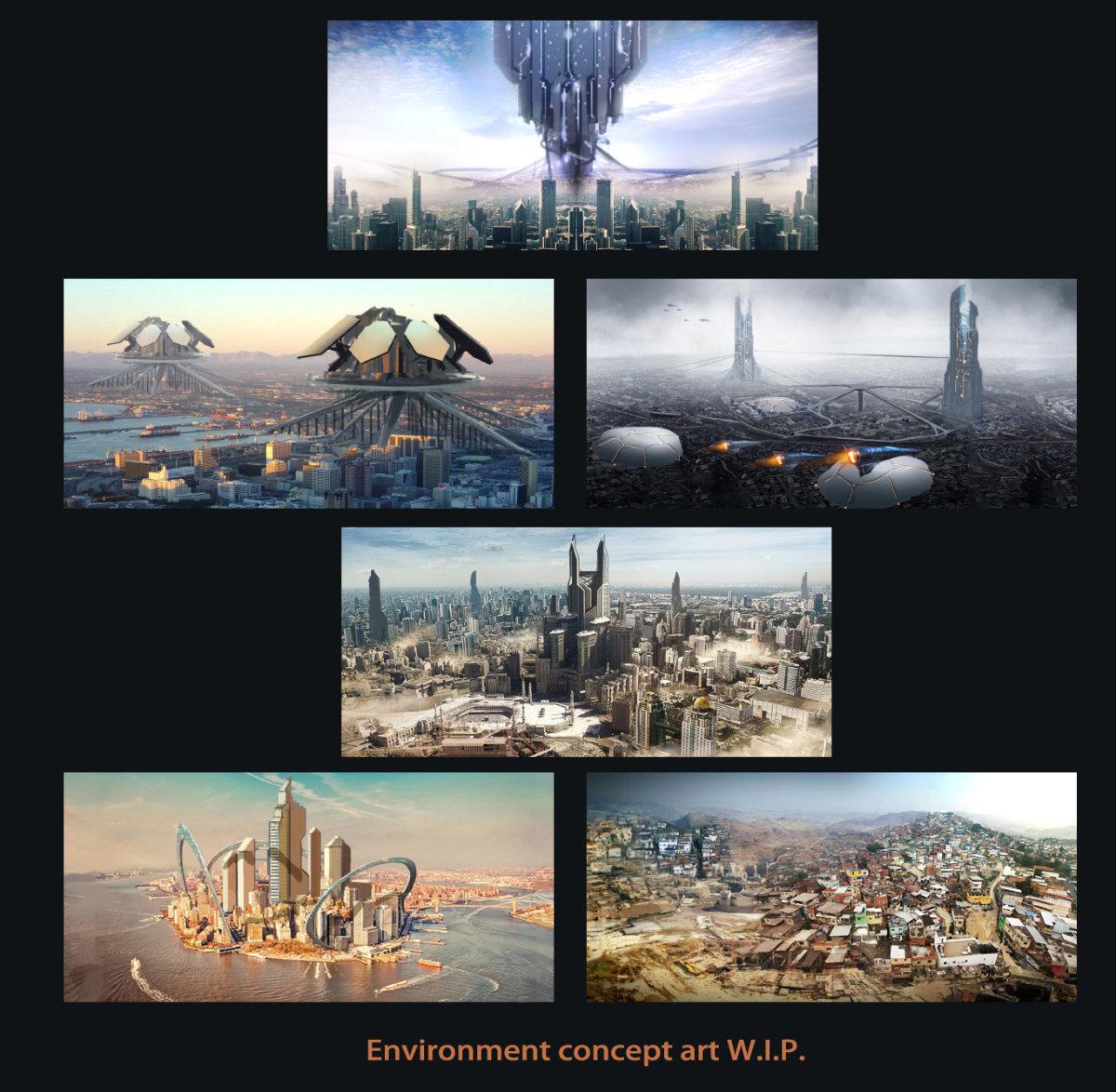 Main cities concept art