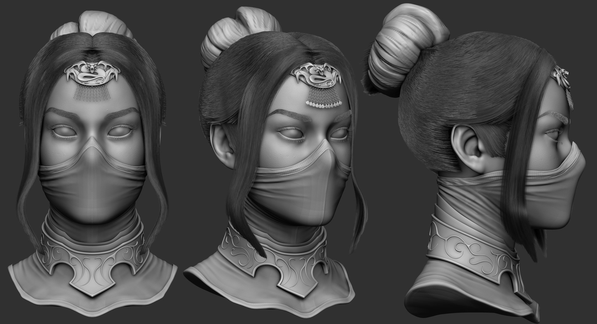 I'd used sculpts as placeholders to get an idea of shapes and if it looked alright.