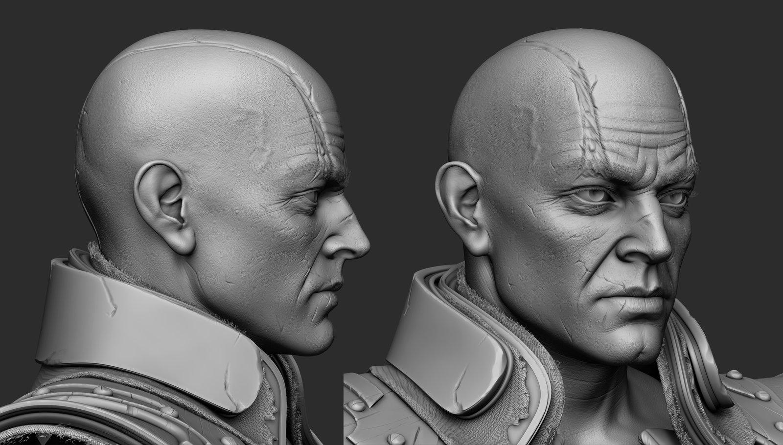 This was his prior head.   I had referenced Yul Brynner for the most part.  I always thought he had a cool old school villain look.