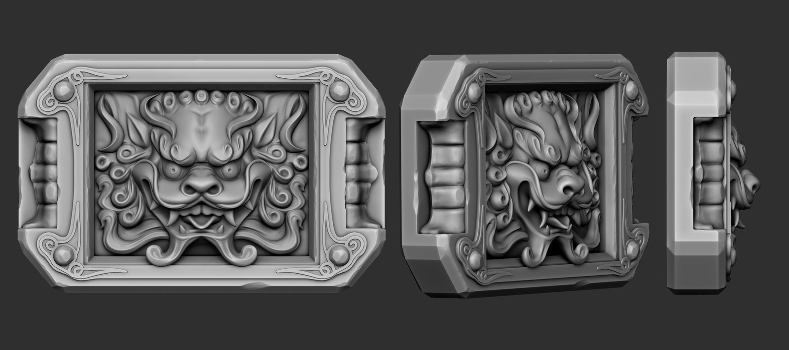 Foo dog head belt buckle, since they are a symbol of good fortune, and they look friggin cool.