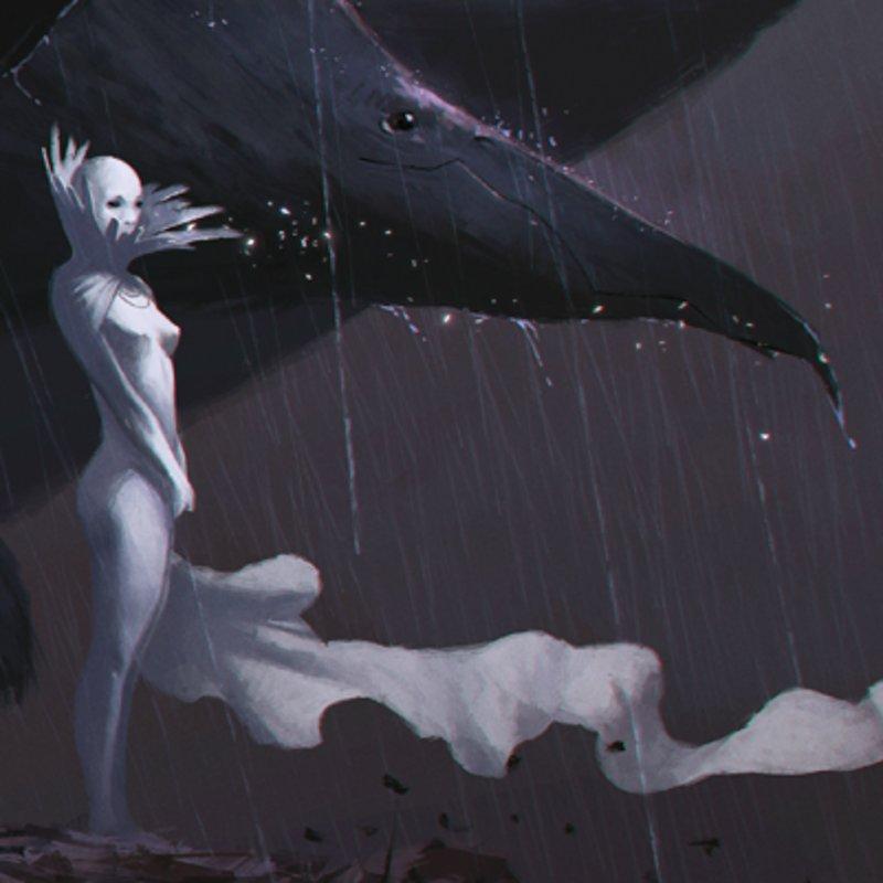 Moon and Crow fanart