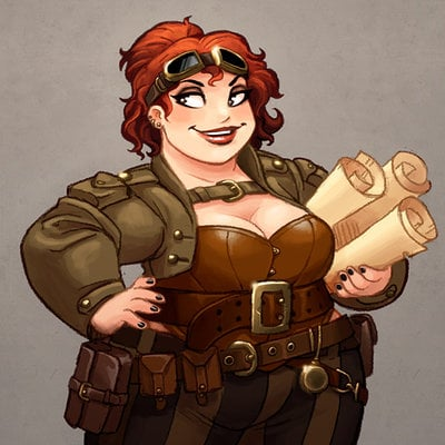 Michael dashow steampunk explorer lady calpurnia oxboxer