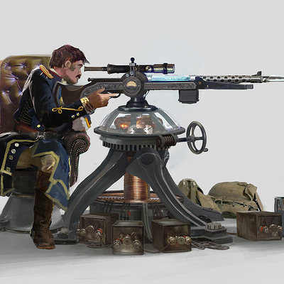 Rhys griffiths mounted tesla sniper by rhysgriffiths d8h66fy
