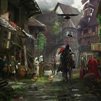 Rhys griffiths medieval town by shutupandwhisper d6q07yv