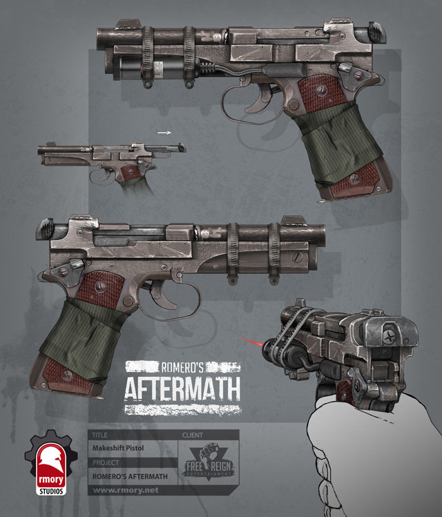 romero's aftermath - makeshift pistol for freereign entertainment by rmory studios
