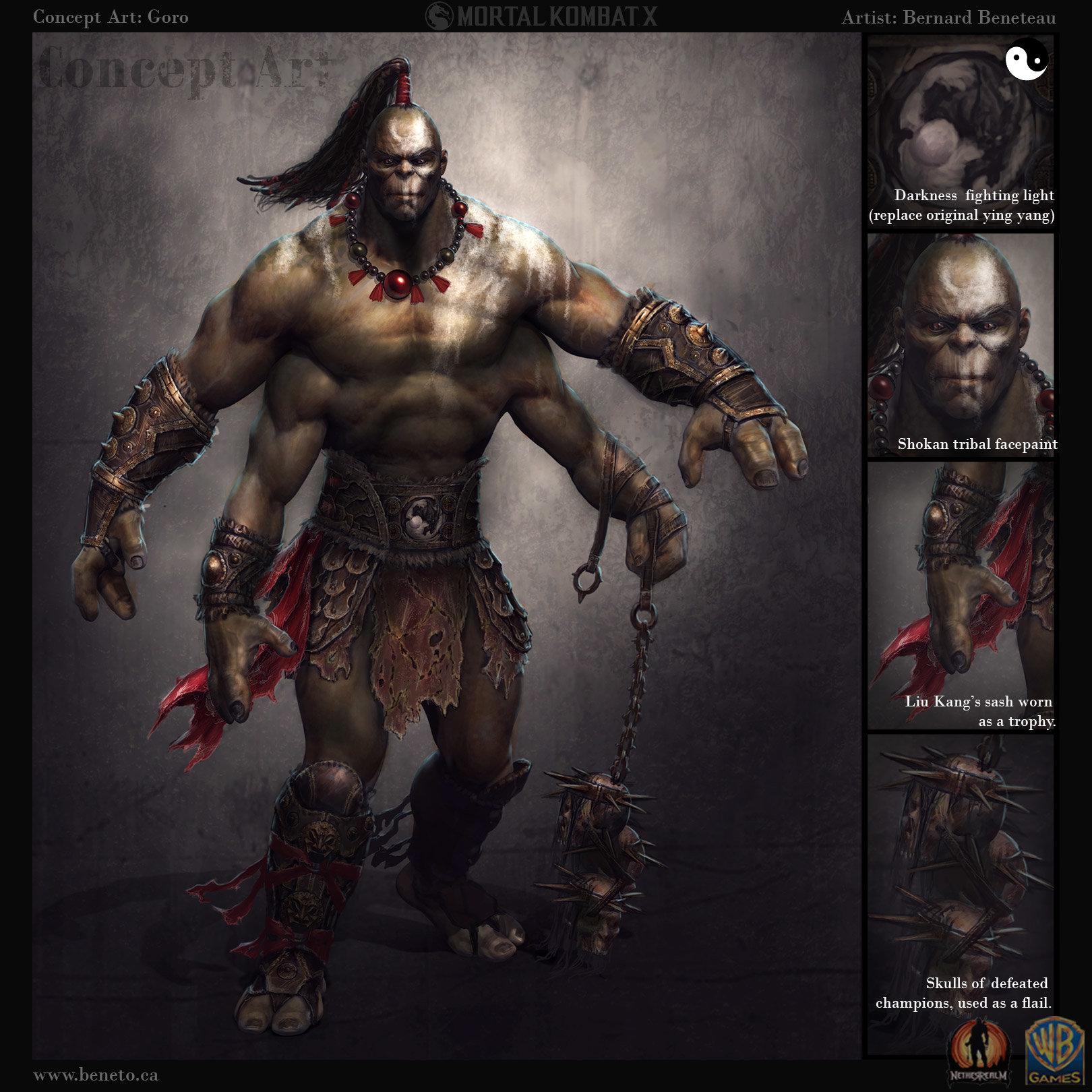 ArtStation - Concept Art: Mortal Kombat X- Goro, Bernard