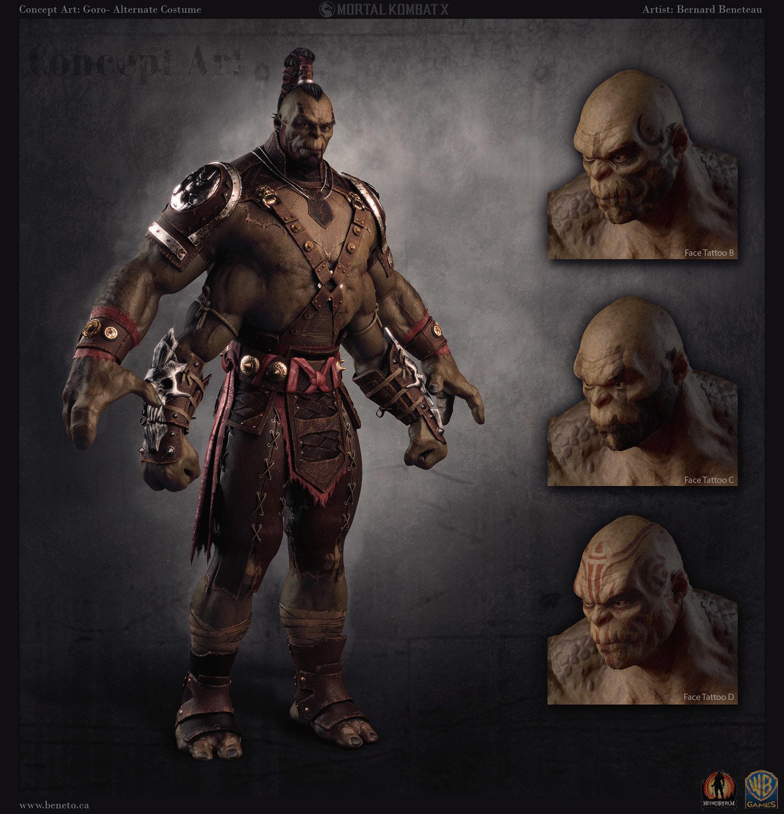 ArtStation - Concept Art: Mortal Kombat X- Goro Alt, Bernard