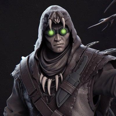 Jay hill crow render closeup
