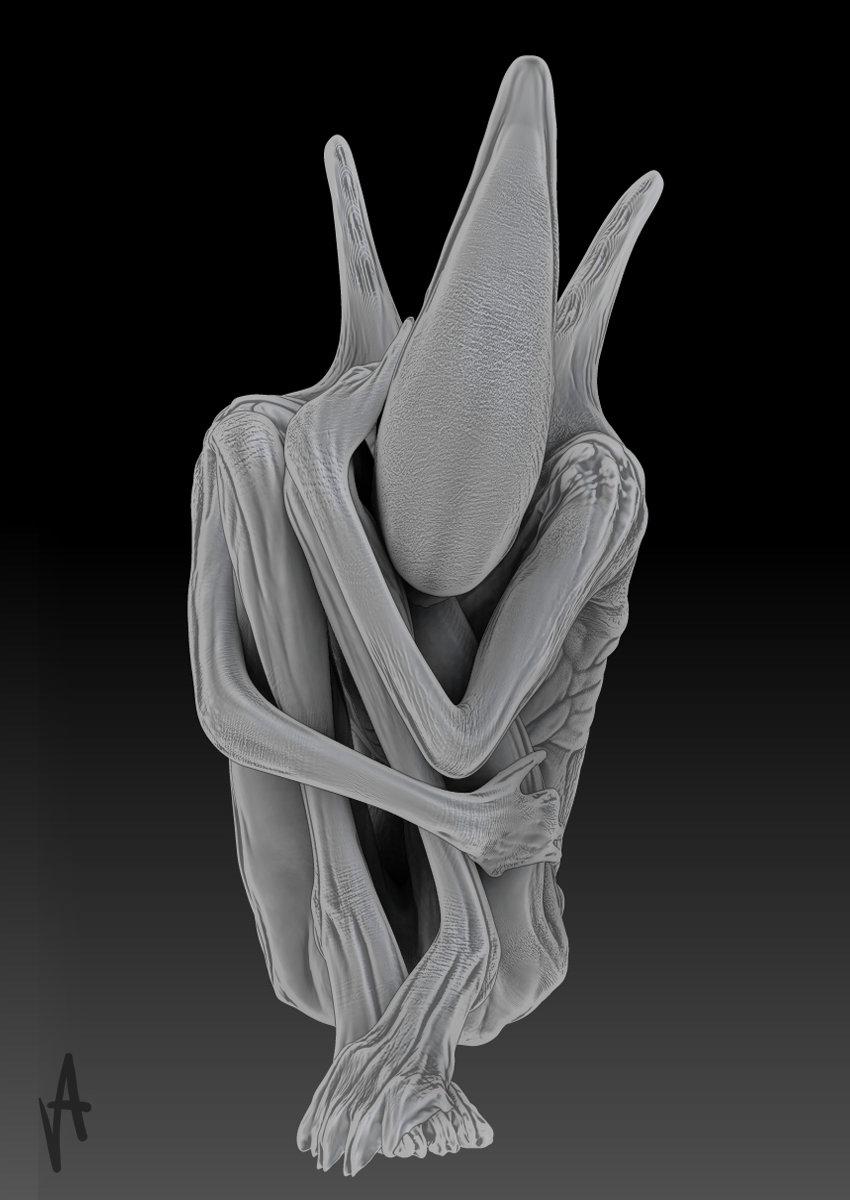ArtStation - -sad Xenomorph Deacon-, Aram Vardazaryan