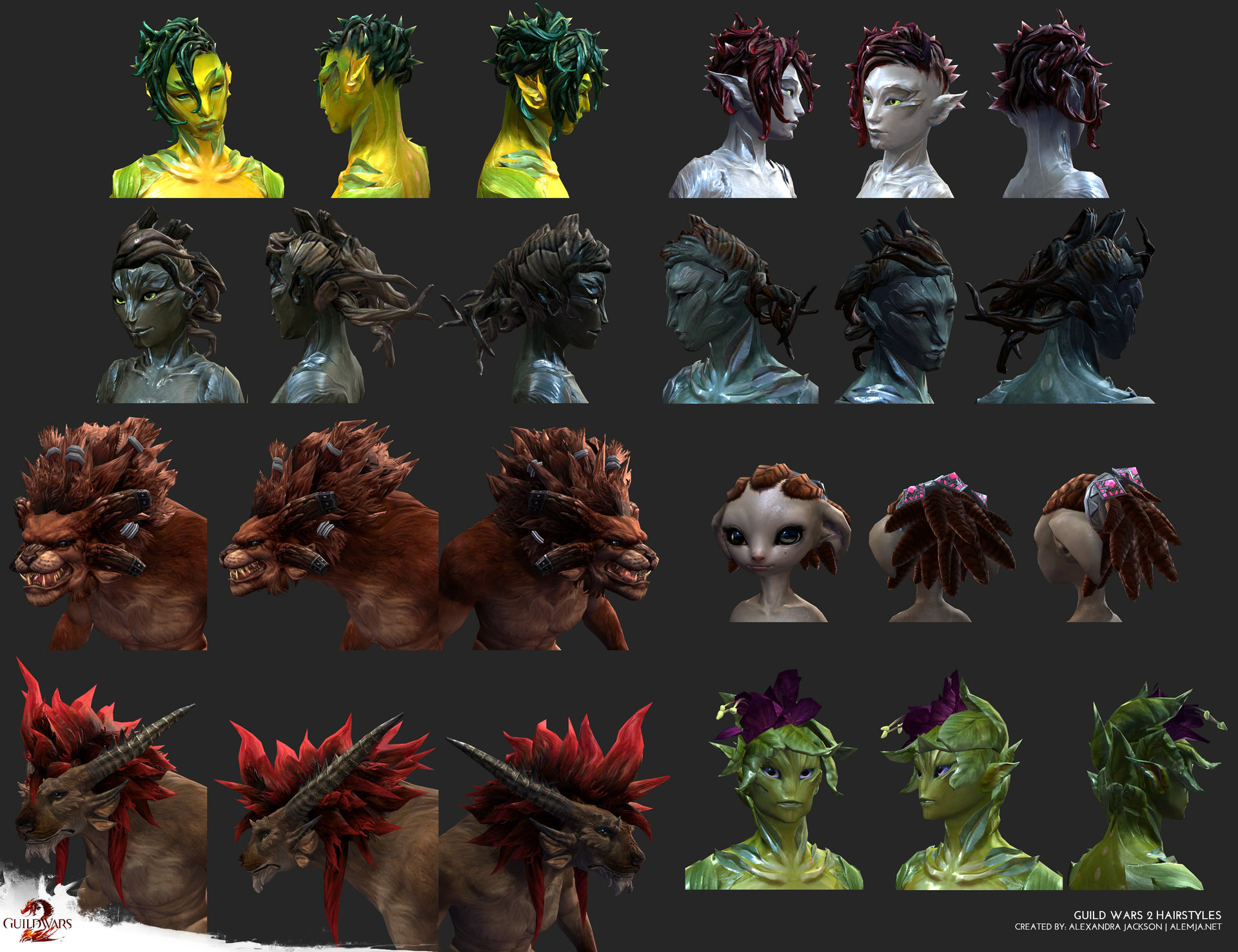 Guild Wars 2 - Hairstyles