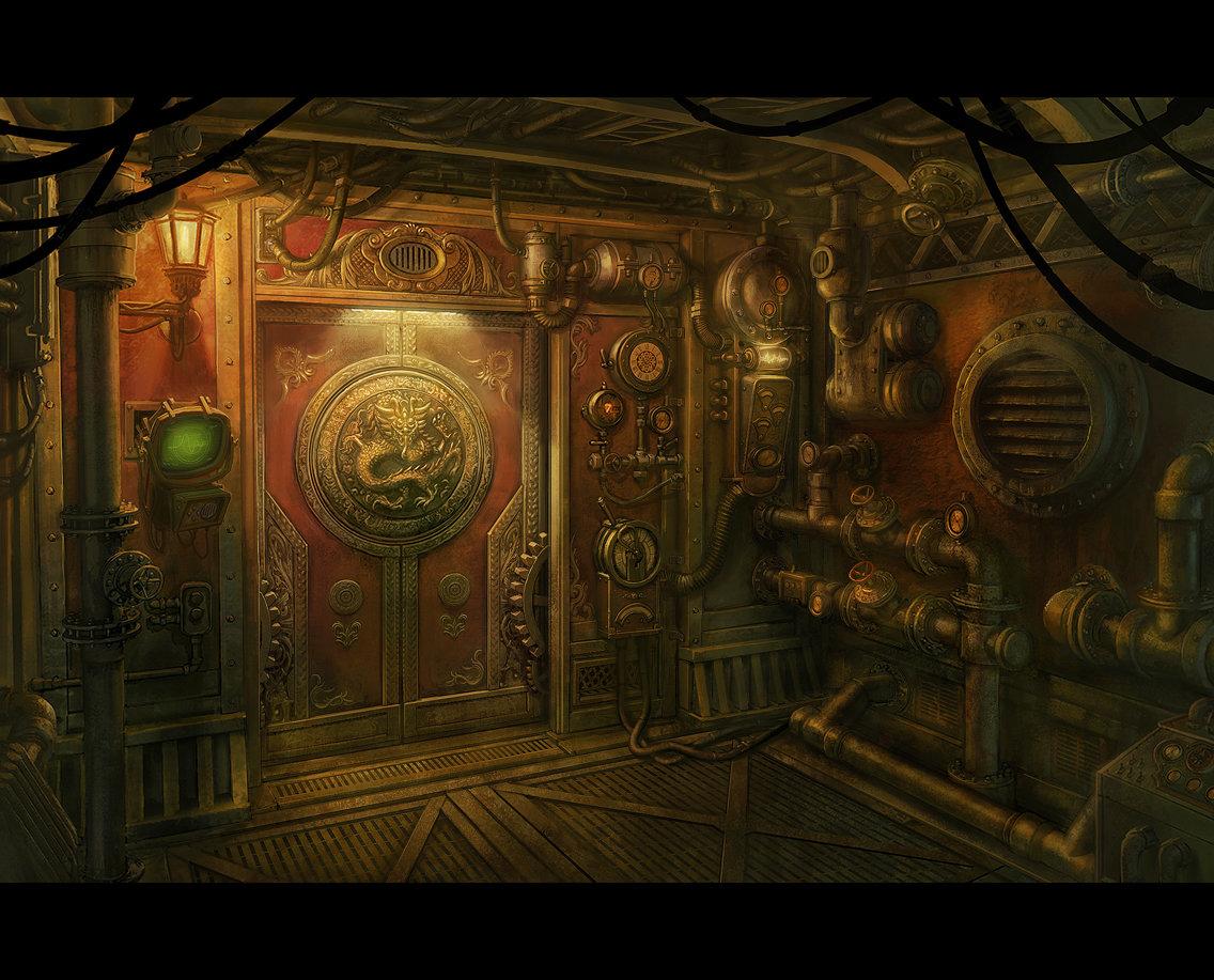Mac smith steampunk door