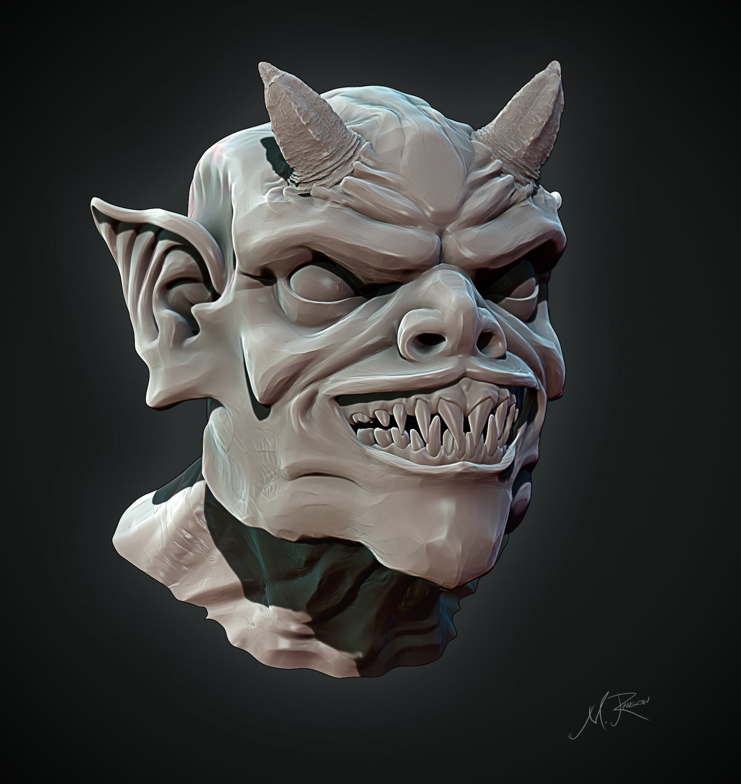 Sunday Sculpt Demon head