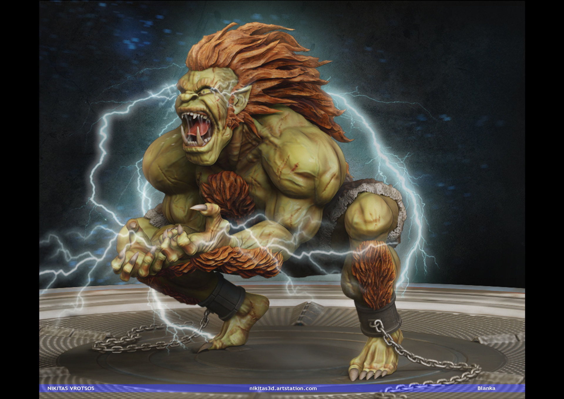 ArtStation - Blanka (Street Fighter Fan Art), Nikitas Vrotsos