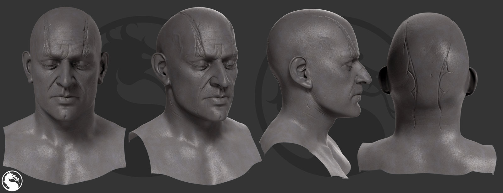 This is the final head we used for Quan Chi - reminiscent of his old look with a new flair.