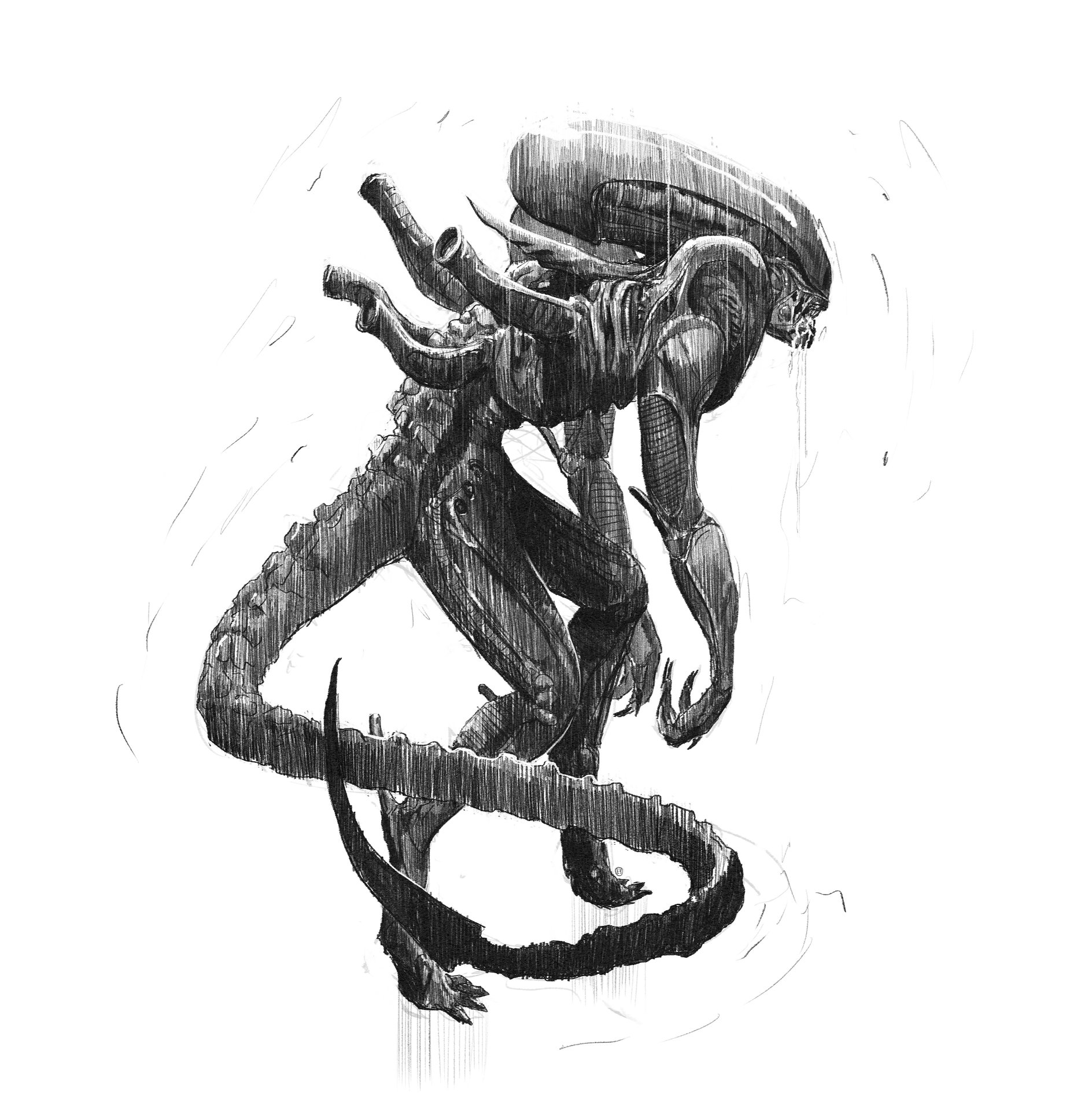 Brad wright alien concepts for book 05