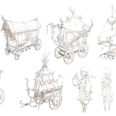 Republic of iaki fantasy carriage sketch