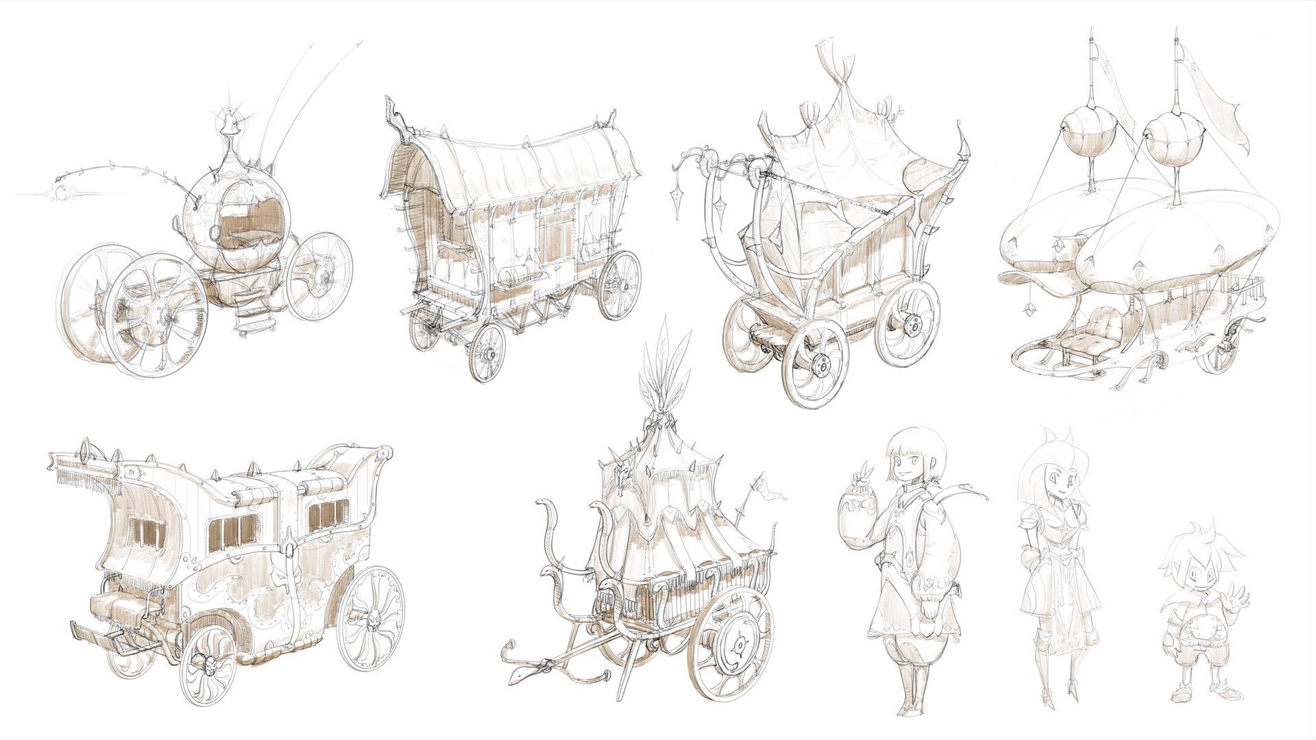 Republic of iaki fantasy carriage sketch