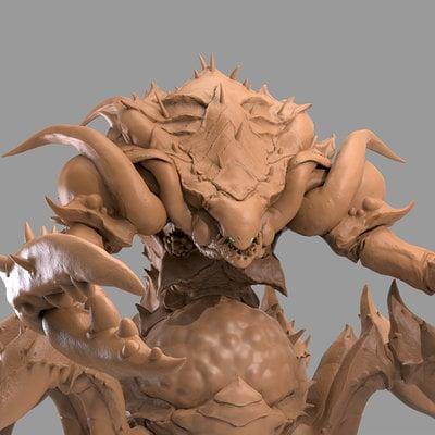 Chris bennett chrisbennett crustaceanqueen sculpt front