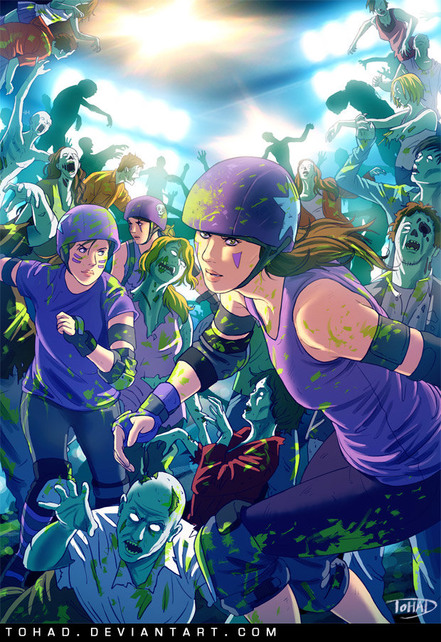 Roller girls VS zombies