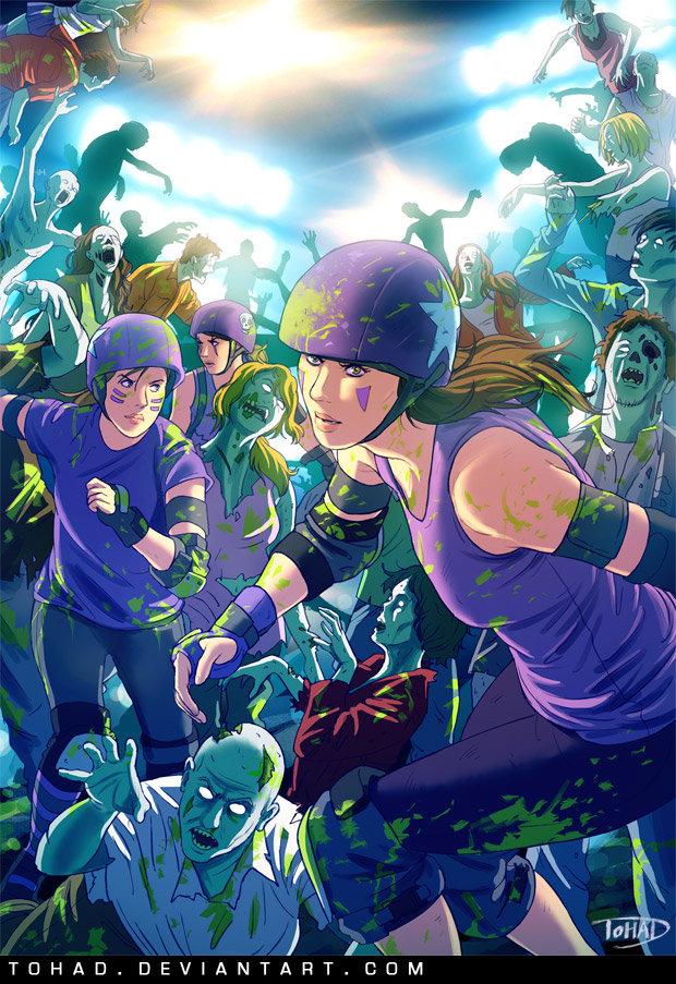 Roller girls VS zombies