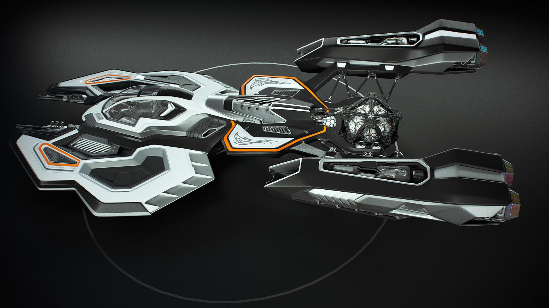 Johan de leenheer 3d spaceship faucer fuga mx230e 03