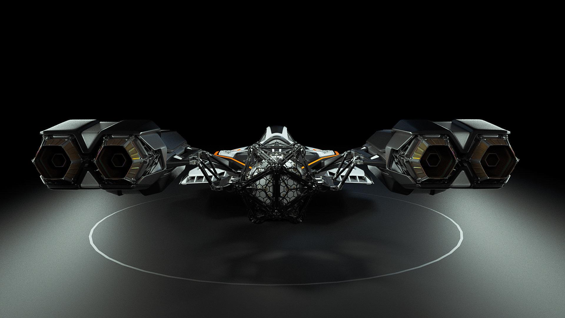 Johan de leenheer 3d spaceship faucer fuga mx230e 05