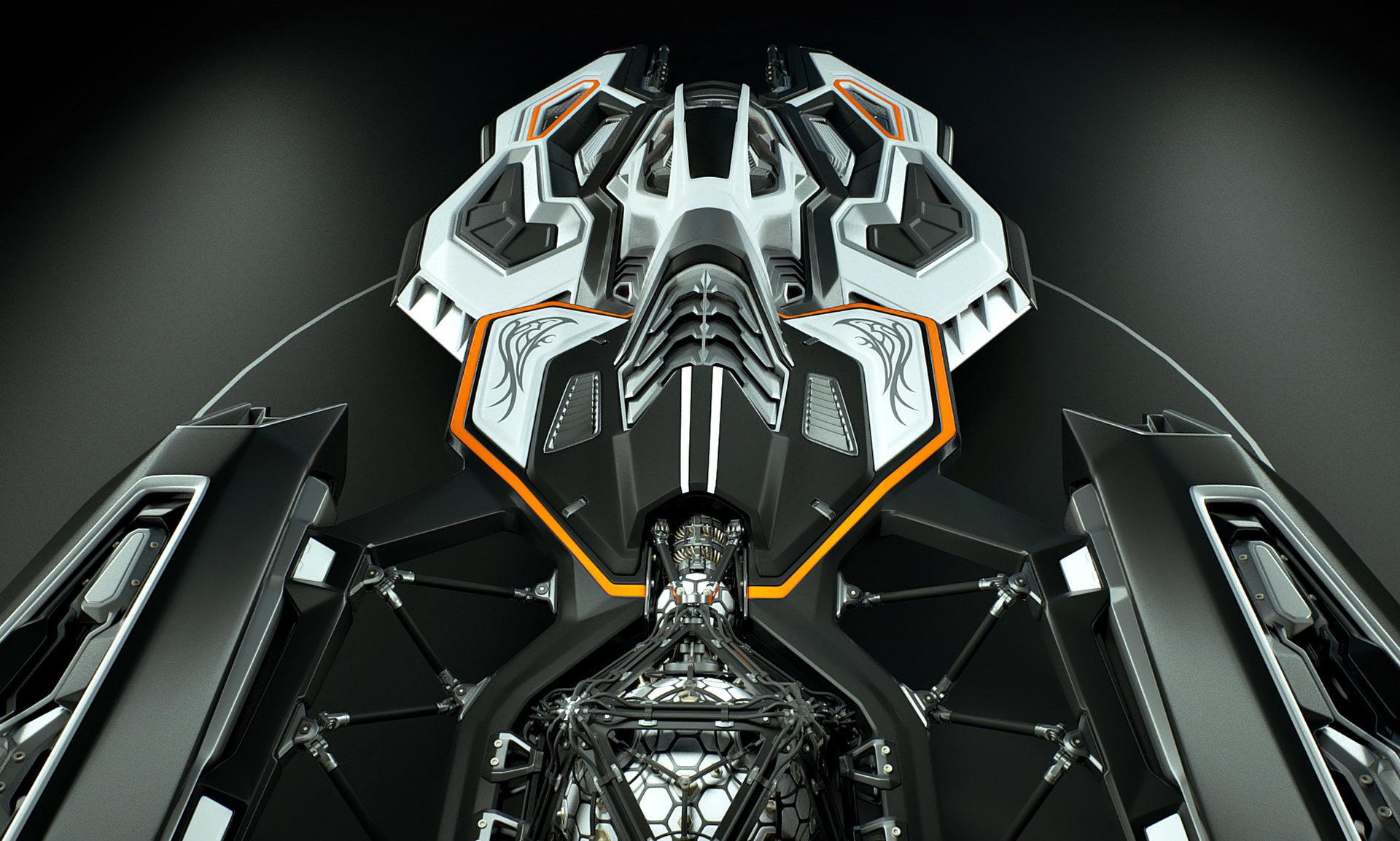 Johan de leenheer 3d spaceship faucer fuga mx230e 06