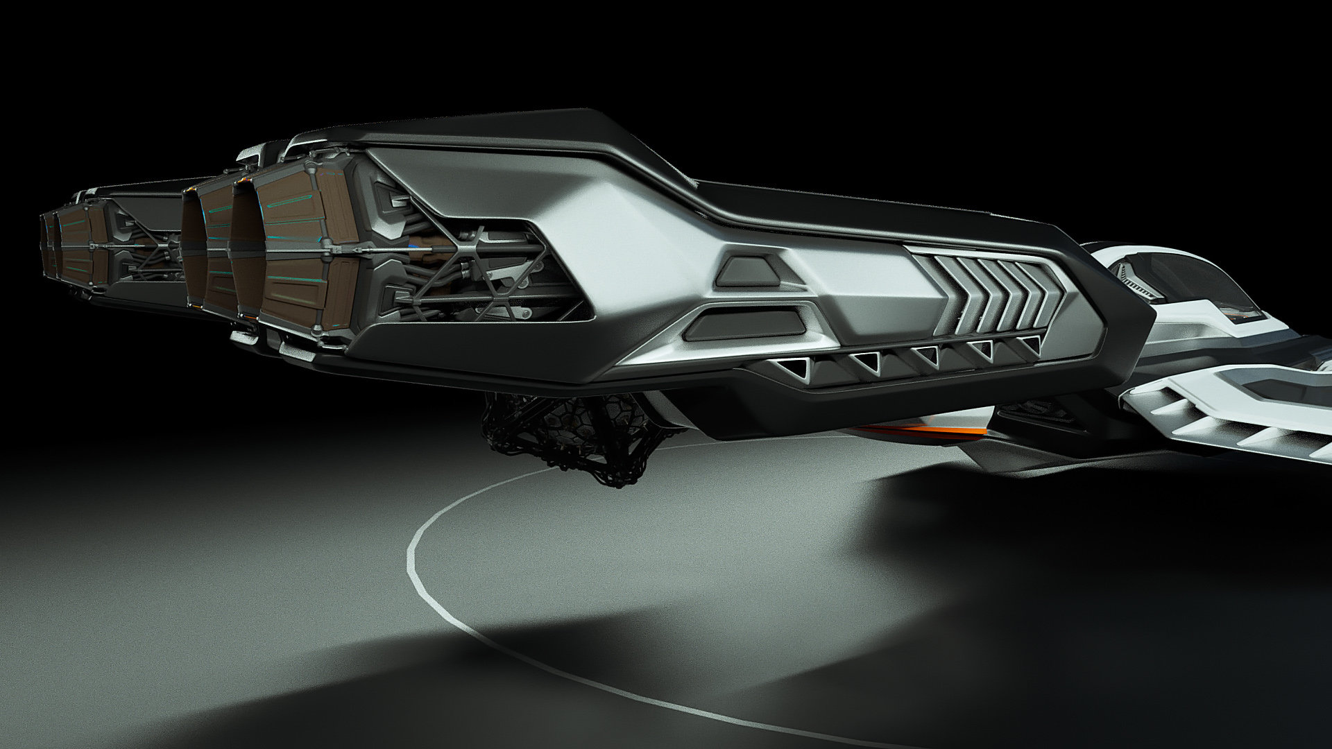 Johan de leenheer 3d spaceship faucer fuga mx230e 07