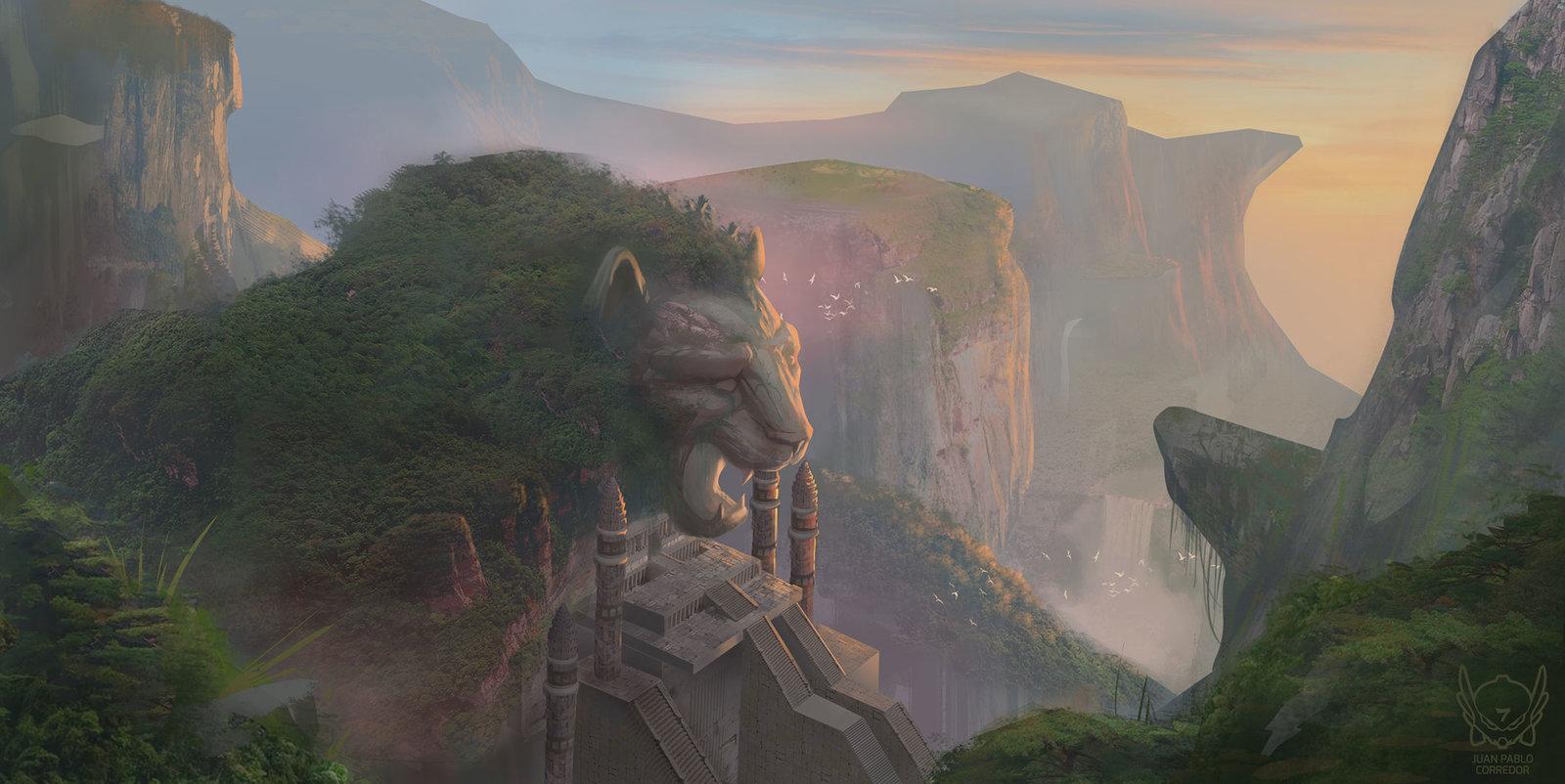 The lion temple
