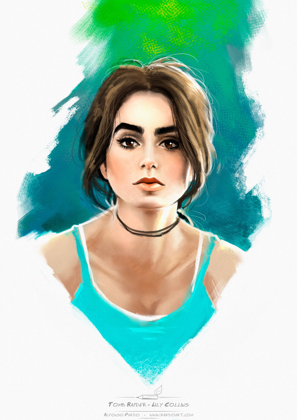 Lily Collins as Tomb Raider