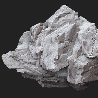 Oskar selin zbrush rock
