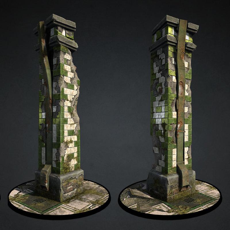 Old and Damaged Pillar
