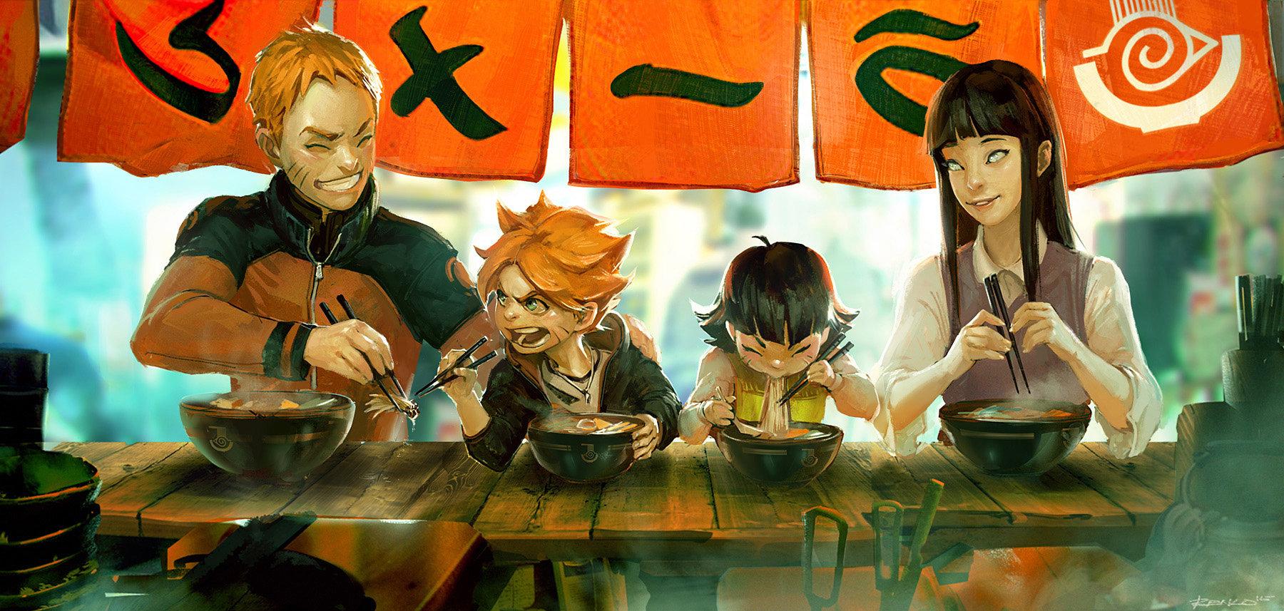 ArtStation - Naruto Fanart - Ramen Stand, Ben Lo