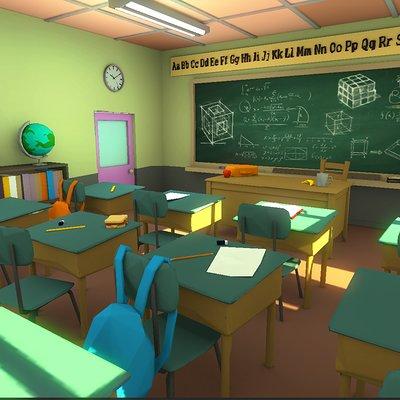 Eddie faria low poly classroom 3 by akasha1x d8oxjs5 1