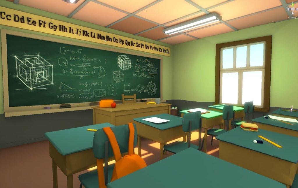Eddie faria low poly classroom by akasha1x d8oxje8