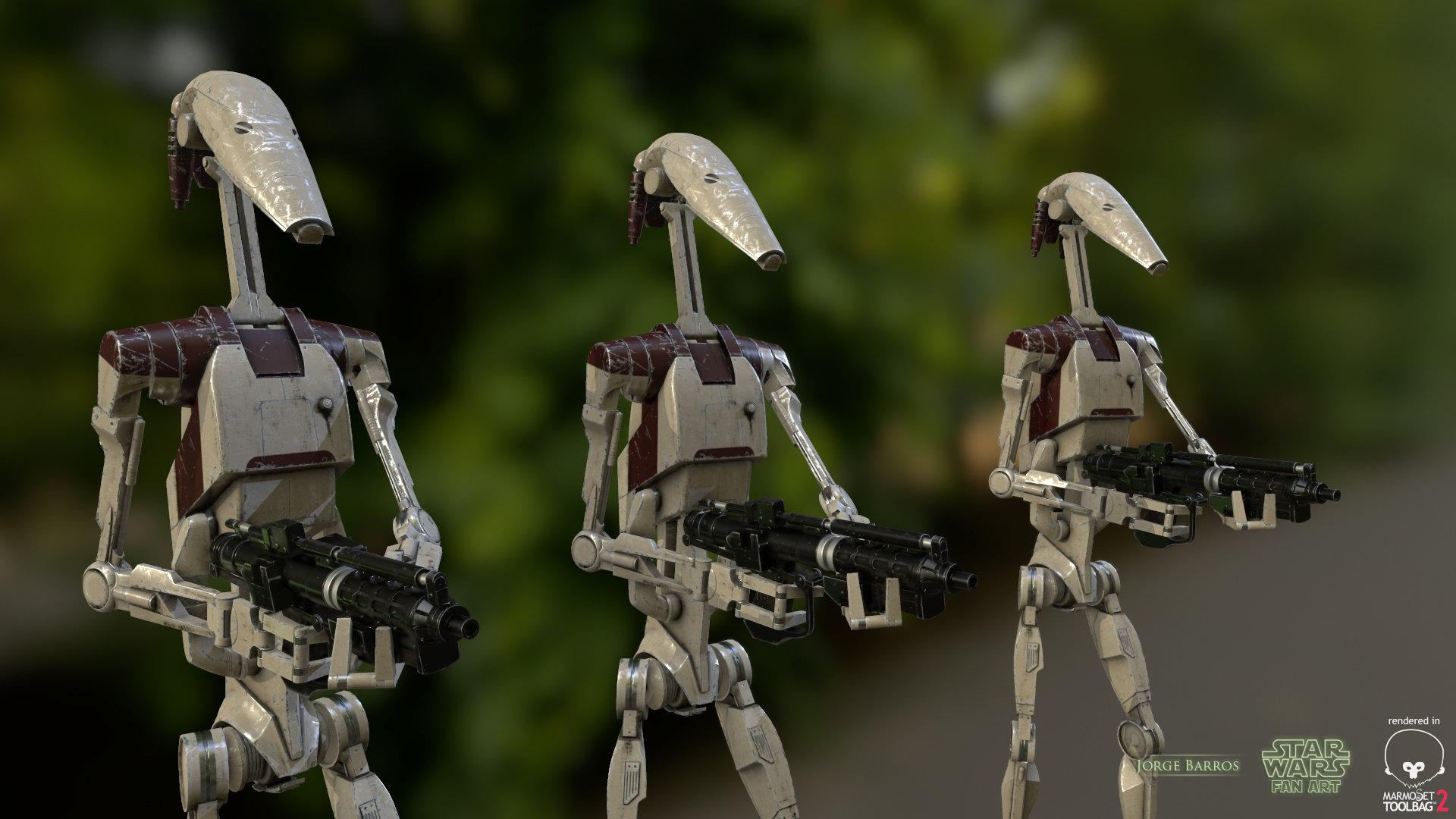 star wars droid wallpaper  ArtStation - Star Wars Battle Droid, Jorge Barros