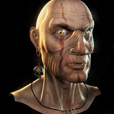Eddie faria 3d voodoo head by akuma1x