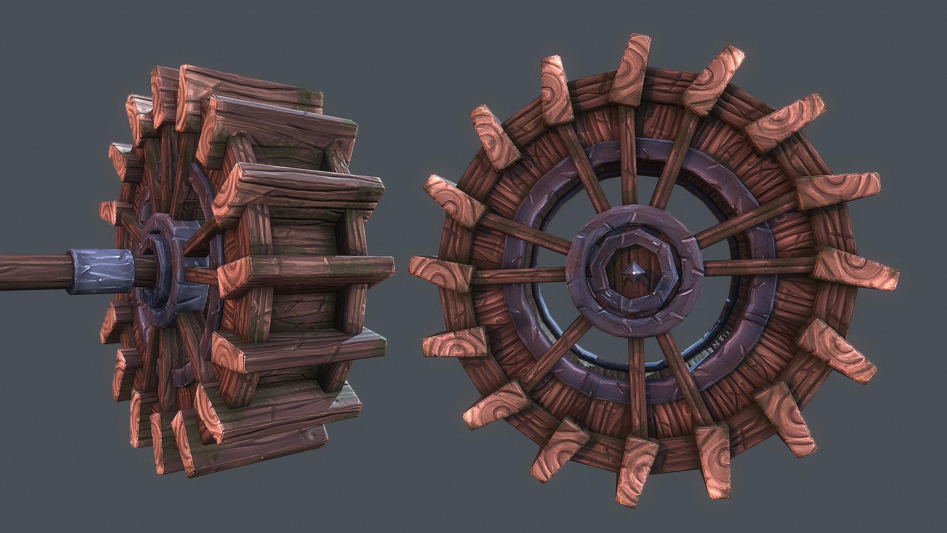 Tobias koepp tobiaskoepp artstation waterwheel 02