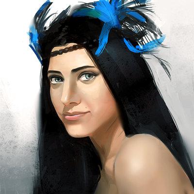 Swaroop roy foroogh kardansani portrait
