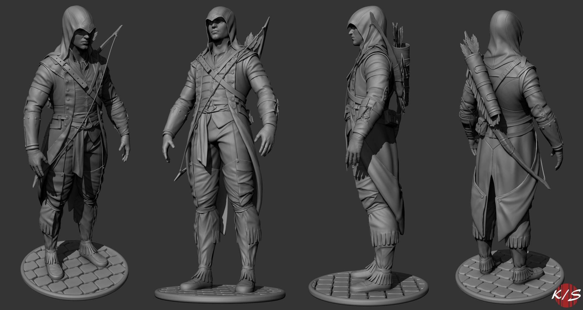 Artstation Assassin Creed Connor Kaushik Saha