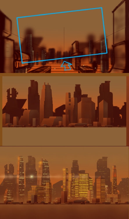 Peter white twilight city concept boards