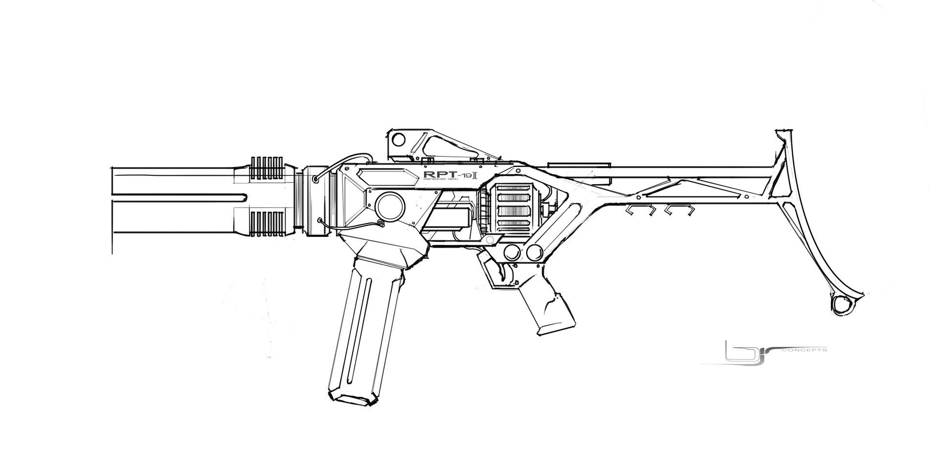 Brandon richard repeater gun 01 linework