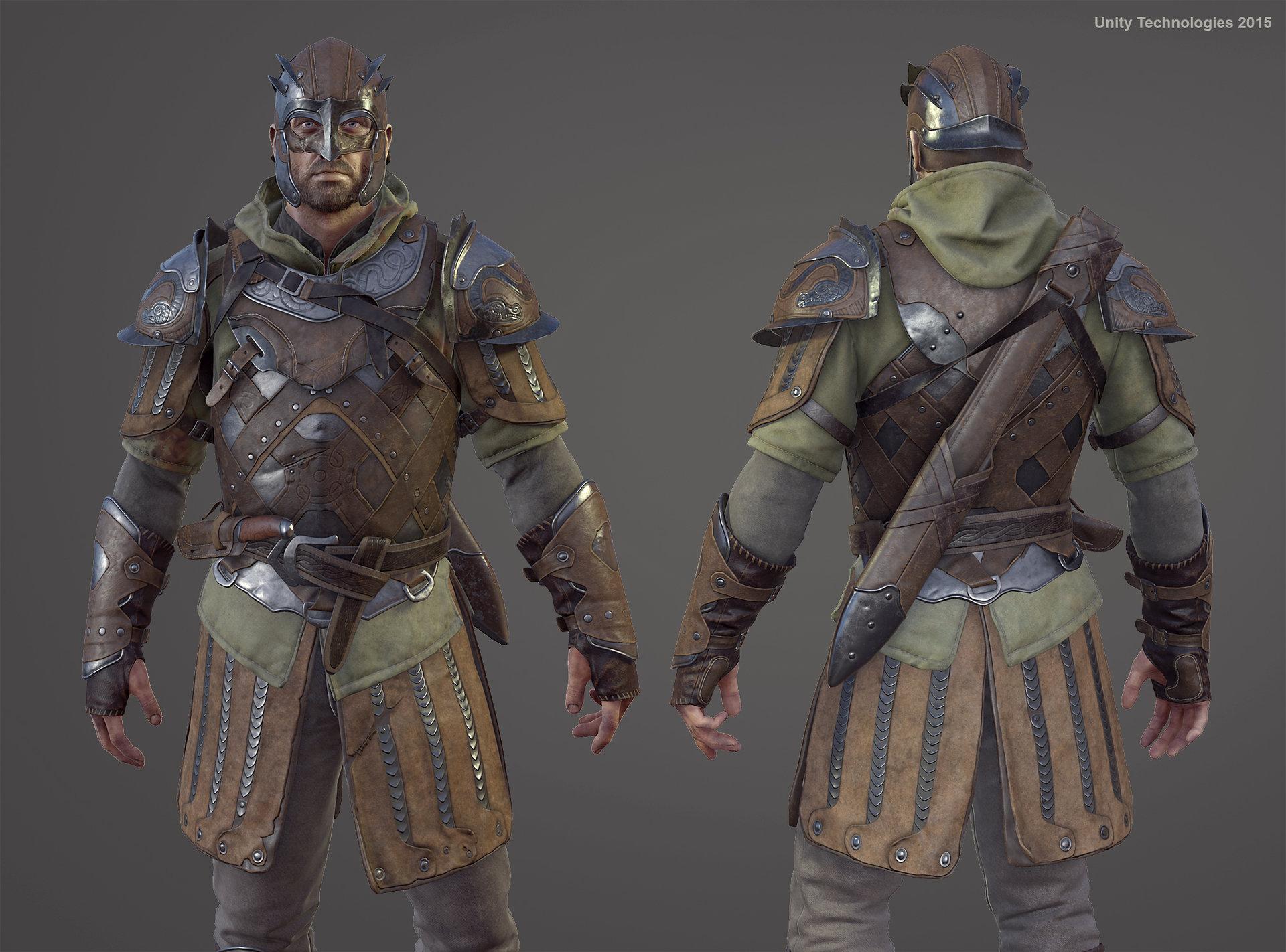 Character Design Unity : Artstation challenger unity demo quot the blacksmith